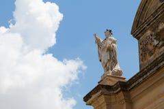 Zurrieq church Malta. Facade of the Roman Catholic parish church of Zurrieq, Knisja ta` Santa Katerina in Maltese, Zurrieq, Malta, May 2017 Stock Photos