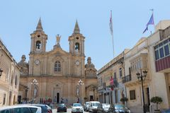 Zurrieq church malta Royalty Free Stock Image
