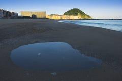 Zurriola beach in the city Stock Image