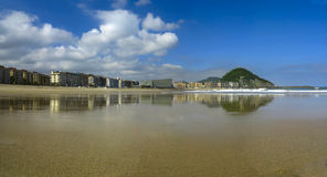 Zurriola beach in Donostia. Royalty Free Stock Photo