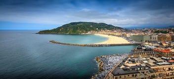 Zurriola beach Stock Images