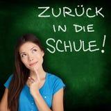 Zuruck dör in Schule - tysk tillbaka till skolan Royaltyfria Bilder