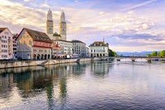 Zurychu szwajcarii Obrazy Royalty Free