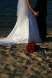 Zusammen auf dem Strand Stockfotografie