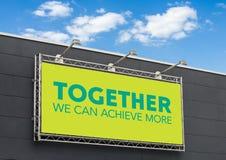 Zusammen können wir mehr erzielen lizenzfreie stockbilder