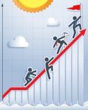 Zusammen klettern zur Spitze Stockfotos