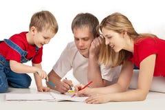 Zusammen zeichnen Lizenzfreies Stockbild