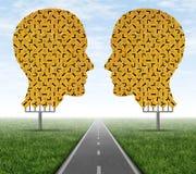 Zusammen zusammenarbeiten Lizenzfreies Stockfoto