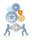Zusammenarbeit und Leistung Stockbild