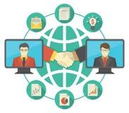 Zusammenarbeit zwischen Unternehmen-Konzept lizenzfreie abbildung