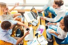 Zusammenarbeiten für bessere Ergebnisse Stockfoto