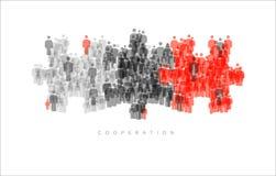 Zusammenarbeits-Brainstorming-Teamwork-Konzept Stockbild