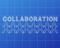 Zusammenarbeits-Leute-Plan stock abbildung