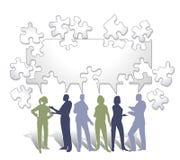 Zusammenarbeits-Puzzlespiel Stockfoto