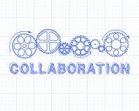Zusammenarbeits-Zeichenpapier mit Maßeinteilung lizenzfreie abbildung