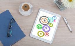 Zusammenarbeitskonzept auf einer digitalen Tablette Lizenzfreies Stockbild