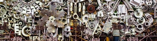 Zusammenbau von Maschinenteilen Stockfotografie