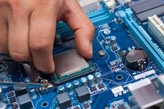 Zusammenbauende Hochleistung Personal-Computer Lizenzfreie Stockfotos