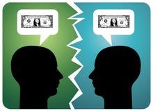 Zusammenbruch in der Kommunikation lizenzfreie abbildung