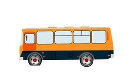zusammenbruch Gelochtes Rad Seitenansicht des Busses über einen lokalisierten Hintergrund Auch im corel abgehobenen Betrag lizenzfreie abbildung