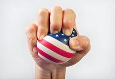 Zusammendrücken des amerikanischen Traums Stockfoto