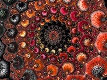 Zusammenfassung übertragen strukturiertes gewundenes Fractalmuster in den Herbstfarben, 3d für Plakat, Entwurf und Unterhaltung r stock abbildung