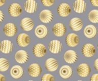 Zusammenfassung bördelt nahtloses Muster in Goldweihnachtsfarbe Lizenzfreie Stockfotos