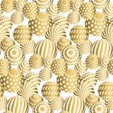 Zusammenfassung bördelt nahtloses Muster in Goldweihnachtsfarbe Lizenzfreie Stockfotografie