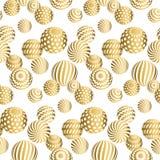 Zusammenfassung bördelt nahtloses Muster in Goldweihnachtsfarbe Stockfotografie