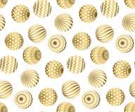 Zusammenfassung bördelt nahtloses Muster in Goldweihnachtsfarbe Stockbilder