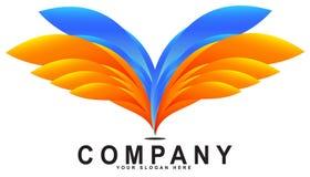 Zusammenfassung beflügelt Logo Sign Template Stockfotografie