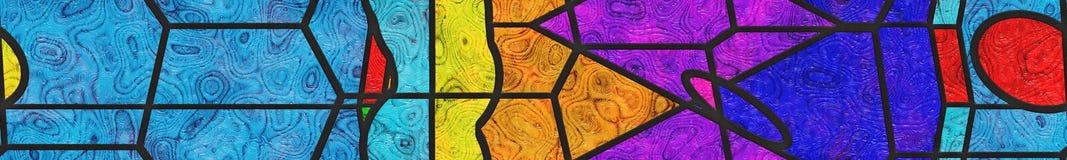 Zusammenfassung beflecktes Glas/Metallgitter Stockfotos
