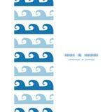 Zusammenfassung bewegt die nahtlose Streifenrahmengrenze wellenartig stock abbildung