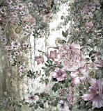Zusammenfassung blüht Aquarellmalerei Frühling mehrfarbig Lizenzfreie Abbildung