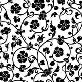 Zusammenfassung blüht barockes nahtloses Muster Stockbilder