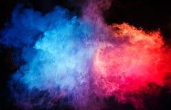 Zusammenfassung - bunte Staubwolke und Dampf lizenzfreie stockfotografie