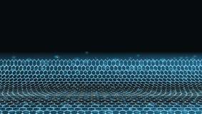 Zusammenfassung 3D futuristischer Dots And Lines Techno Structure stockbilder