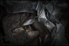Zusammenfassung des überschüssigen Metalls stockfotos