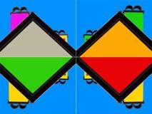 Zusammenfassung des Dachs und des Kamins - Veränderungen - 4 - widergespiegelt vektor abbildung