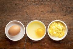 Zusammenfassung des durcheinandergemischten Eies Stockbilder