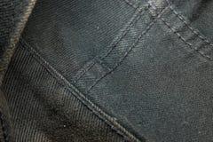 Zusammenfassung des schwarzen Baumwollstoffs Stockbilder