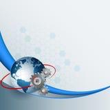 Zusammenfassung, Designhintergrund für Industrie, Technologie Stockbild