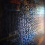Zusammenfassung eines Papierpuzzlespiels Stockfotografie