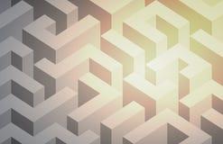 Zusammenfassung erleichtertes Labyrinth Schwarzweiss Vektor stock abbildung