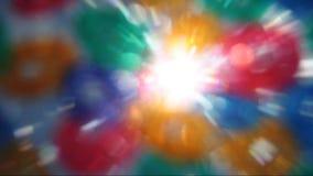 Zusammenfassung färbt Blendenfleck stock video