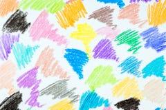 Zusammenfassung farbiger Bleistifthintergrund Stockfoto