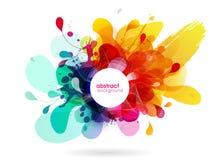 Zusammenfassung farbiger Blumenhintergrund mit Kreisen Lizenzfreies Stockfoto