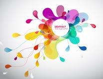 Zusammenfassung farbiger Hintergrund mit verschiedenen Formen Lizenzfreies Stockfoto