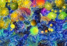 Zusammenfassung farbiger psychedelischer Schmutzhintergrund mit Beschaffenheit von chaotisch unscharfen Stellen und von Farbenans vektor abbildung