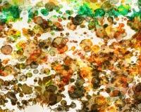 Zusammenfassung farbiger psychedelischer Schmutzhintergrund mit Beschaffenheit von chaotisch unscharfen Stellen und von Farbenans stock abbildung